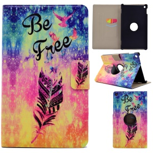 Pattern Printing Leather Card Slots Tablet Cover for Amazon Fire HD 8 (2016) - Feather and Be Free