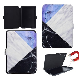 Patterned PU Leather Card Slots Swivel Stand Case for Amazon Kindle Paperwhite 3/2/1 -  Stitching Pattern