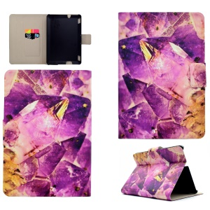 Patterned PU Leather Card Holder Stand Flip Protective Case for Amazon Kindle Fire HDX 7 - Crystal