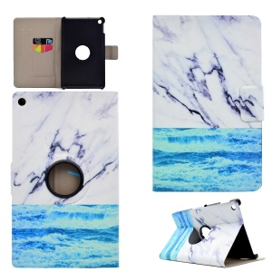 Patterned PU Leather Card Slot Stand Protective Shell for Kindle Fire HD8 2016 - Ocean