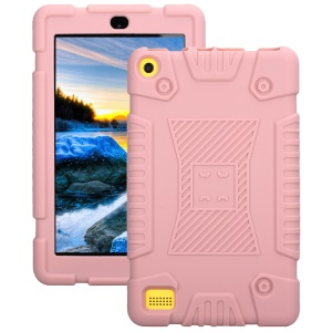 For Amazon Fire 7 2017 Soft Silicone Protective Case Accessory - Pink
