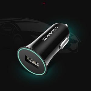 USAMS US-CC036 Trompette 12V-24V Smart USB Car Chargeur pour iPhone Samsung HTC - Noir