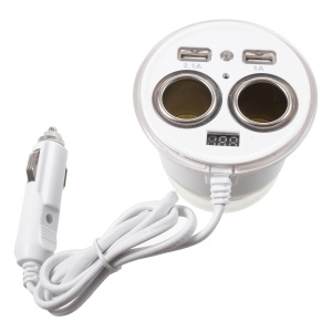 OLESSON No.1615 1 to 2 Car Cigarette Lighter Socket & Dual USB Car Charger