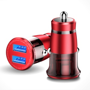 CAFELE Dual USB Port Car Charger for iPhone iPad Samsung etc. - Red
