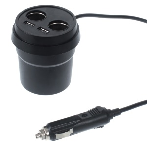 3 in 1 3.1A Dual USB Car Charger + Phone Holder + Cigarette Lighter Splitter for iPhone