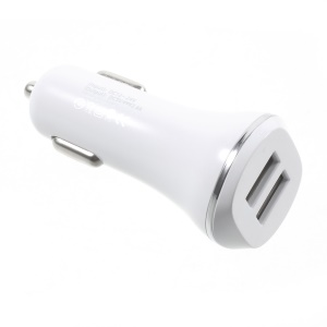 2.4A 2 USB Outputs Car Charger Adapter for iPhone iPad Samsung Sony etc