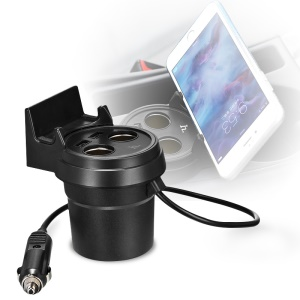 HOCO Multifunctional Cup Shape 2-Port USB Car Charger Dual Socket Splitter