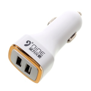 D9ELEMENT 2.4A Dual USB Ports Smart Car Charger for iPhone Samsung (DN-CC006)