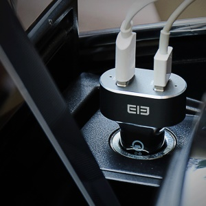 ELEPHONE ELE Tornado Dual USB Output QC 3.0 Car Charger High Speed Power Adapter