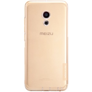 NILLKIN Nature Drop-resistant TPU Gel Phone Shell for Meizu Pro 6 - Brown