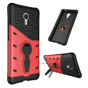 Armor PC + TPU Hybrid Case Cover with Kickstand for Meizu m3 note - Red