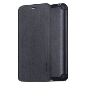 X-LEVEL Slim Folio Leather Stand Case for Meizu MX4 - Black