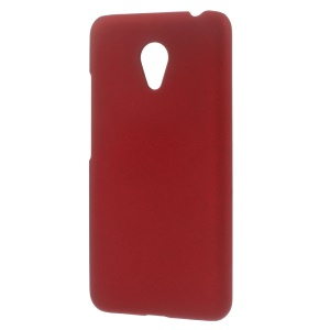 Rubberized PC Hard Back Case for Meizu m3 / Blue Charm 3 - Red