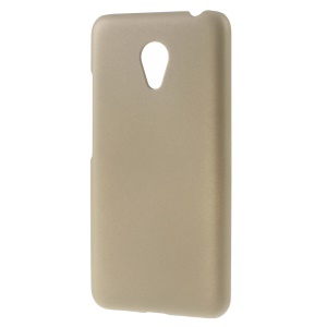 Rubber Coating Hard PC Cover for Meizu m3 / Blue Charm 3 - Champagne