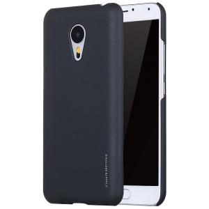 X-LEVEL Metallic Plastic Hard Phone Case for Meizu MX5 - Black