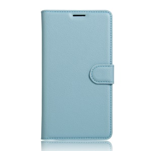 Litchi Skin Wallet Leather Stand Cover for Meizu m3 m3s - Baby Blue