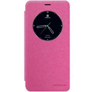 NILLKIN Sparkle Series Smart View Leather Shell for Meizu MX6 - Rose