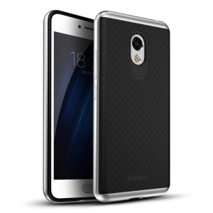 IPAKY PC Frame + TPU Back Hybrid Case for Meizu m3s - Silver