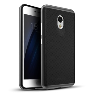 IPAKY PC Frame + TPU Back Hybrid Cover for Meizu m3s - Grey
