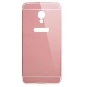 Sliding Metal Frame Mirror-like PC Protective Shell for Meizu m3s - Rose Gold