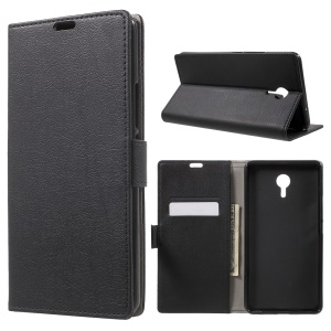 Wallet Leather Stand Case for Meizu m3 Max - Black