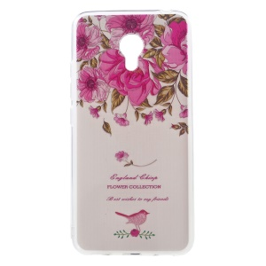 Softlyfit Embossed TPU Mobile Shell Case for Meizu m3 / m3s - Garden Roses