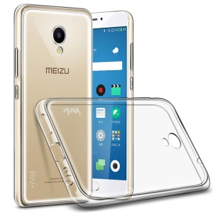 IMAK Silky Anti-scratch TPU Clear Phone Case for Meizu m5 Note with Screen Protector - Transparent