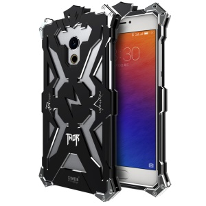 For Meizu Pro 6 Punk Rock Aviation Aluminum Metal Armor Mobile Phone Case - Black
