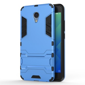 Solid PC + TPU Combo Case with Kickstand for Meizu m5 Note - Baby Blue