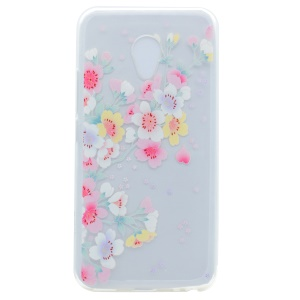 Pattern Printing TPU Protection Case for Meizu M5s - Fresh Flowers
