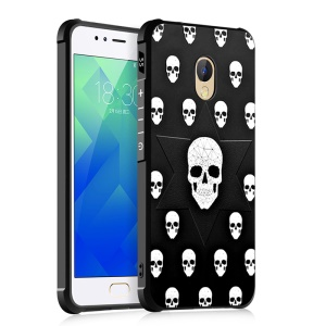 Patterned Four Corners Air-cushioning Drop-proof TPU Mobile Casing for Huawei P10 - Skulls