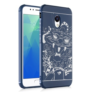For Meizu M5s All-wrapped Drop-proof TPU Cell Phone Casing - Dragon / Blue
