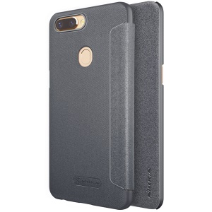 NILLKIN Sparkle Series Folio Leather Phone Case for OPPO R11s - Black