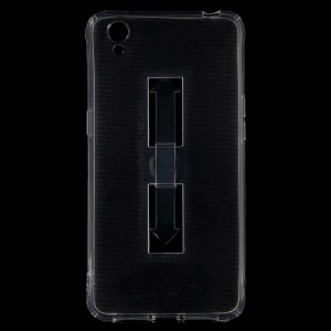 Ring Kickstand Clear TPU Shell Case Cover for OPPO A37