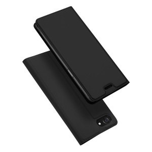 DUX DUCIS Skin Pro Series Flip Stand Leather Case with Card Slot for Oppo F7 Youth - Black