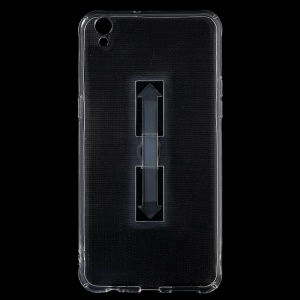 Ring Kickstand Clear TPU Shell Case for OPPO R9 Plus