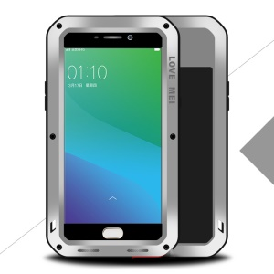 LOVE MEI Powerful Shockproof Drop-proof Dirtproof Case for Oppo R9 Plus - Silver
