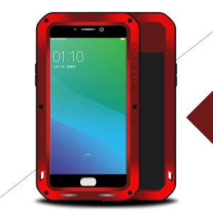 LOVE MEI Powerful Shockproof Drop-proof Dirtproof Protection Case for Oppo R9 Plus - Red