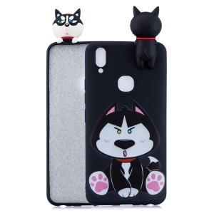 Pattern Printing TPU Gel Protective Case for vivo Y85 with 3D Animal Doll - Dog