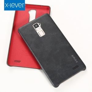 X-LEVEL Vintage Series Leather Coated Hard Phone Case for Oppo R7 Plus - Black