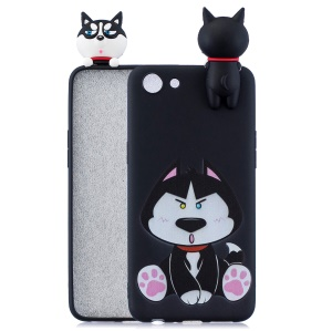 3D Cute Doll Pattern Printing TPU Case for OPPO A83 - Dog