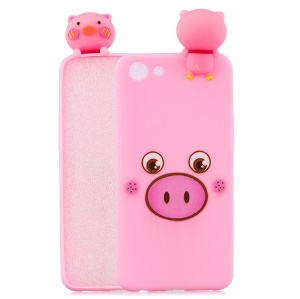 Purchased 3D Cute Doll Pattern Printing TPU Case for OPPO A83 - Pig