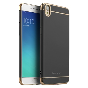 IPAKY 3-In-1 Electroplating PC Hard Protection Case for Oppo R9/F1 Plus - Black