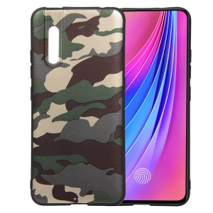 Camouflage Pattern TPU Soft Phone Cover for vivo V15 Pro - Green