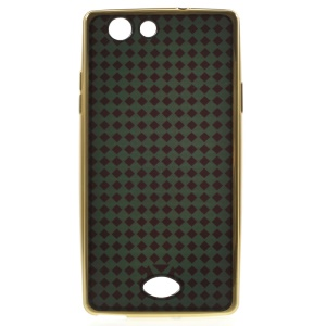 XINCUCO Checker TPU Case Plating Cover for Oppo A31 - Green / Black