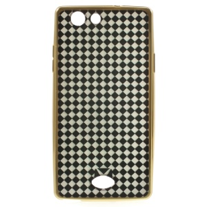 XINCUCO for Oppo A31 Checker Plating TPU Skin Cover - White / Black