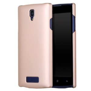X-LEVEL Rubberized Slim Hard Cover Case for OPPO R831S - Gold