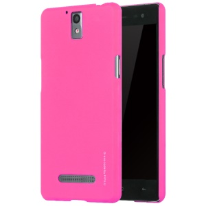 X-LEVEL Metallic Plastic Hard Phone Case for OPPO R3 - Rose