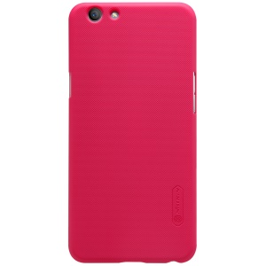 NILLKIN Super Frosted Shield Hard Phone Case for Oppo F1s with Screen Film - Red