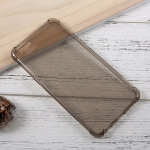 Crystal Clear Soft TPU Phone Back Case for Oppo R9 Plus - Grey